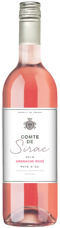 packshot Comte de Sirac Grenache Rosé IGP